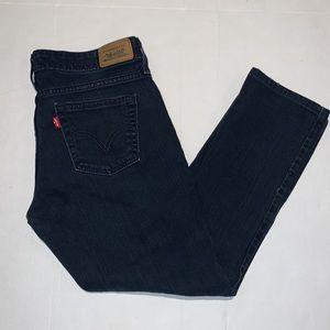 Levi's Low skinny 545 dark wash blue jeans 8M